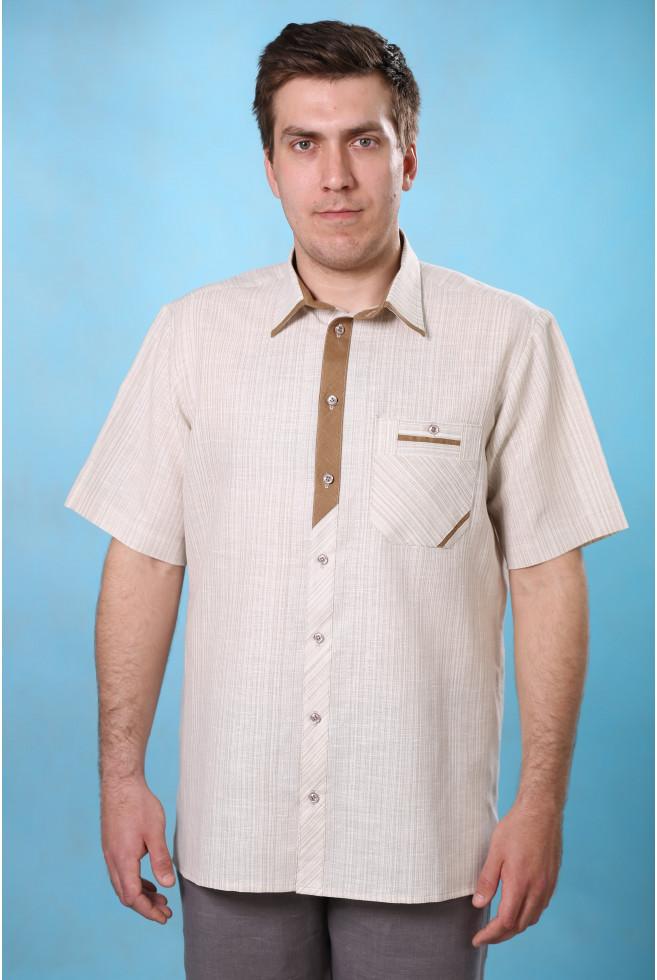 Сорочка с комбинированной планкой