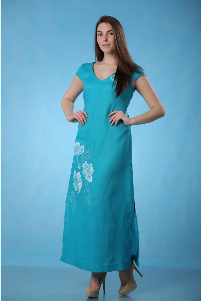 Платье батик с рукавом