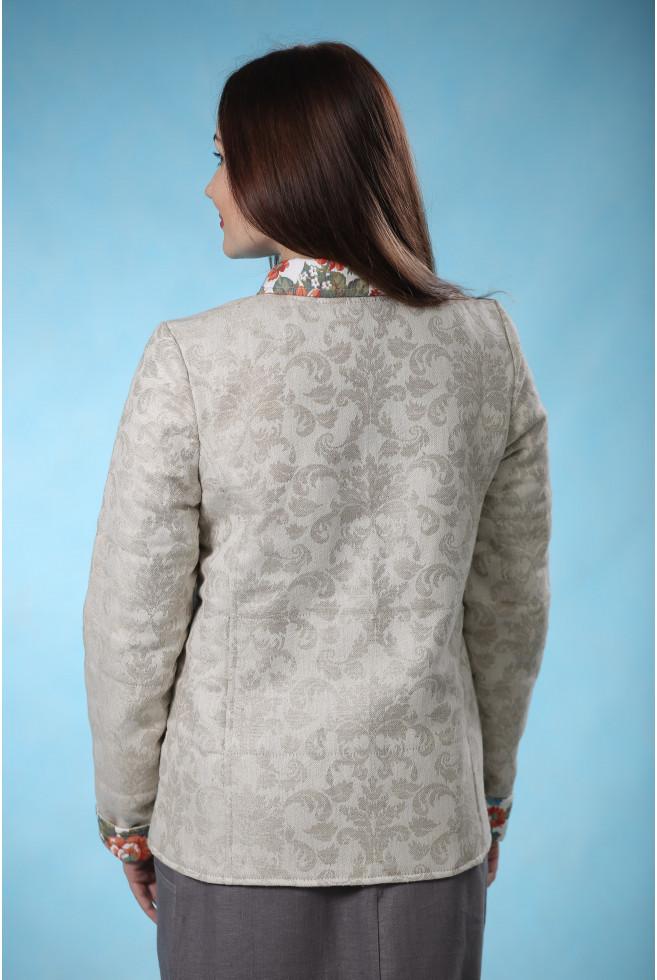 Куртка фуфайка из жаккарда