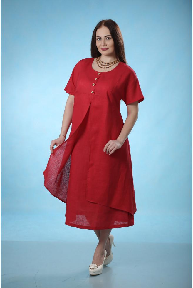 Платье с двойной юбкой