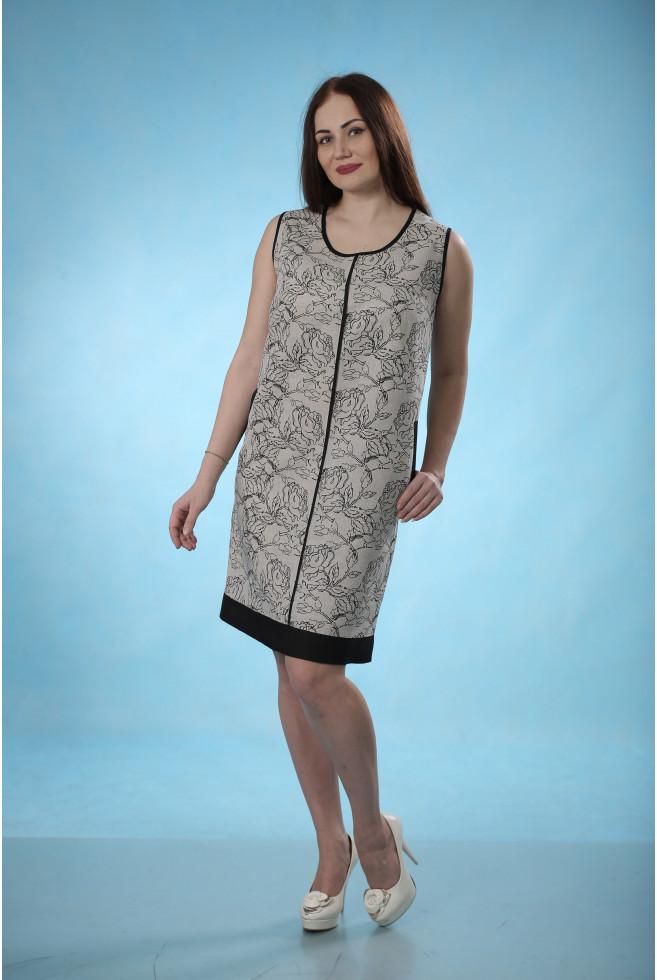 Платье с кантом