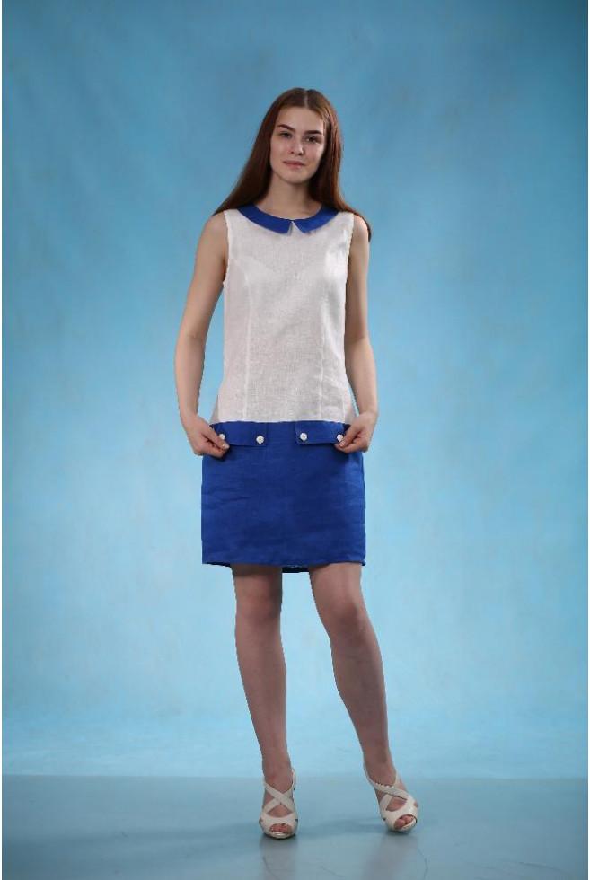 Платье Молодежное с воротником